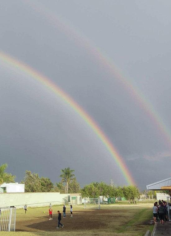 Rainbow Over Esperanza Viva Youth Home Puebla, Mexico
